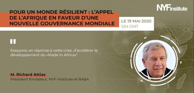 NYF Institute | 1ère table ronde virtuelle sur la résilience africaine et l'après crise Covid-19- M. Richard Attias