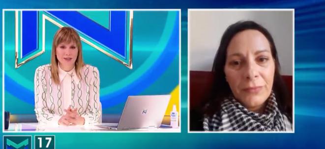 Ana Lalić, à droite, interrogée par une télévision début mai 2020. © Capture d'écran/YouTube