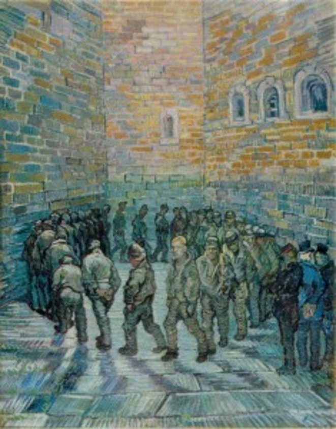 La Ronde des prisonniers (1890) © Van Gogh