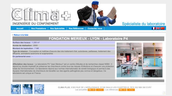 La présentation des installations du laboratoire P4 lyonnais par la société Clima plus. © DR
