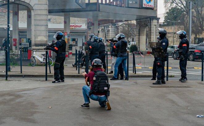 Rassemblement Black Block du 8 février 2020 à Bordeaux © Romain Bloch