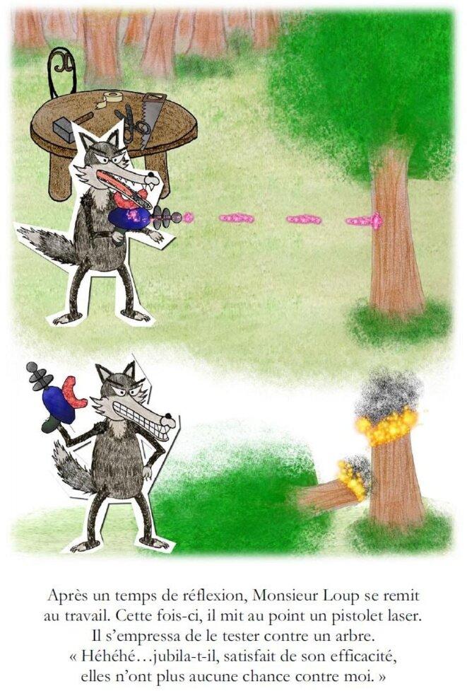 Monsieur Loup face au Feu et à la Glace © Alan Emrey