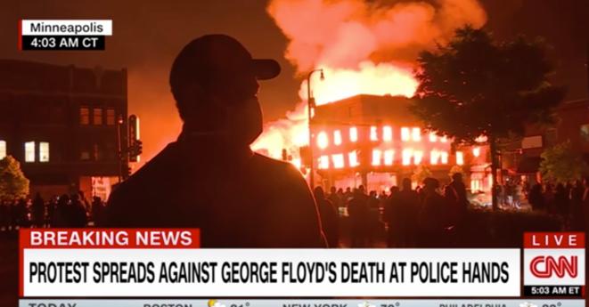 Incendies à Minneapolis. © Capture d'écran/CNN