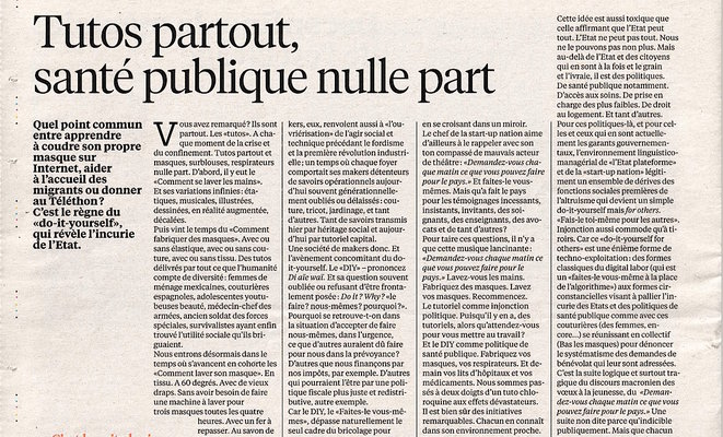 Tutos partout © Libération