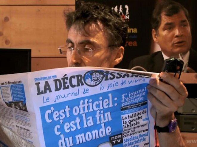 """""""Opération Correa. Épisode 1 : Les Ânes ont soif"""" de Pierre Carles © C-P Productions"""