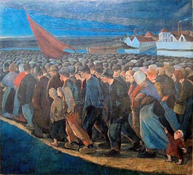 Un soir de grève - Eugène Laermans