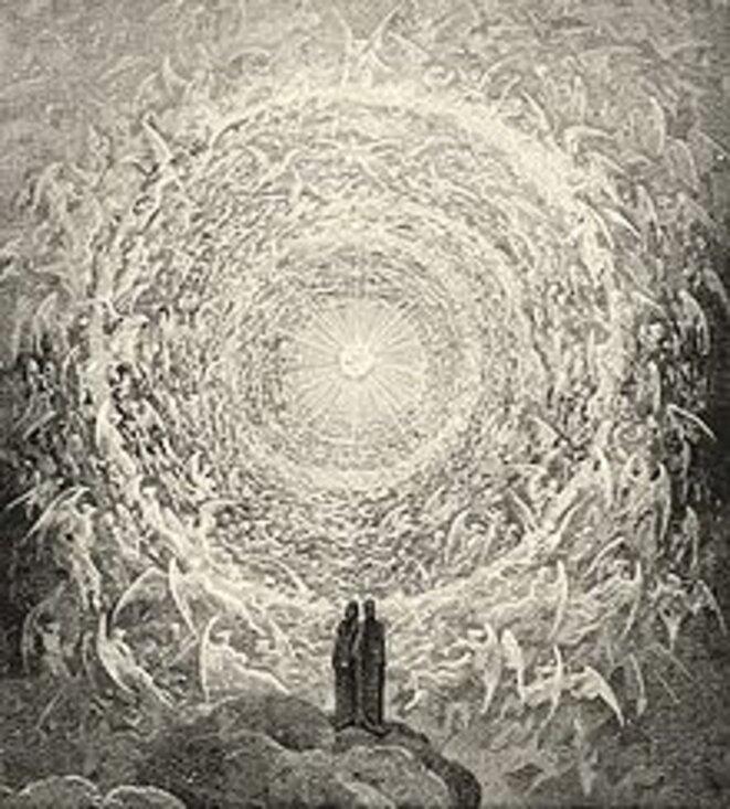 Dante, Il Paradiso, The Empyrean, Canto XXXII, engraving Gustave Doré
