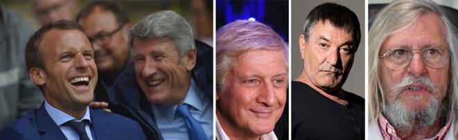 Le Président aime faire savoir qu'il s'entretient avec Philippe de Villiers, Patrick Sébastien, Jean-Marie Bigard, Didier Raoult... © photos AFP