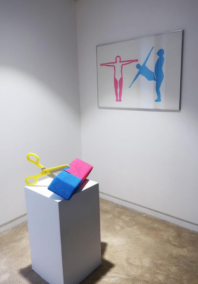 """Vue de l'exposition personnelle de Louise Pressager, """"Vous êtes l'heure, je suis le lieu"""", maison des arts de Malakoff, 2020 © Louise Pressager, courtesy galerie Laure Roynette, Paris"""