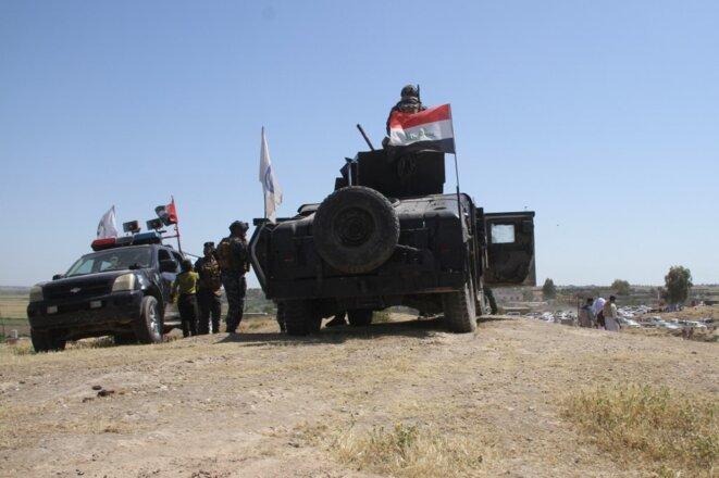 Une opération contre l'État islamique autour de Kirkouk le 8 mai 2020. © AlMakram Ghareeb/Anadolu Agency/AFP