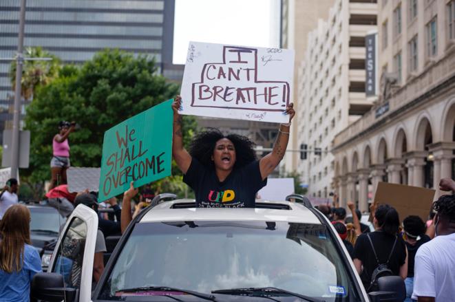 Manifestación en Houston, 29 de mayo de 2020. © Agence France Presse
