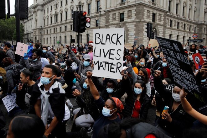 Manifestation à Londres le 3 juin 2020. © Tolga Akmen/AFP