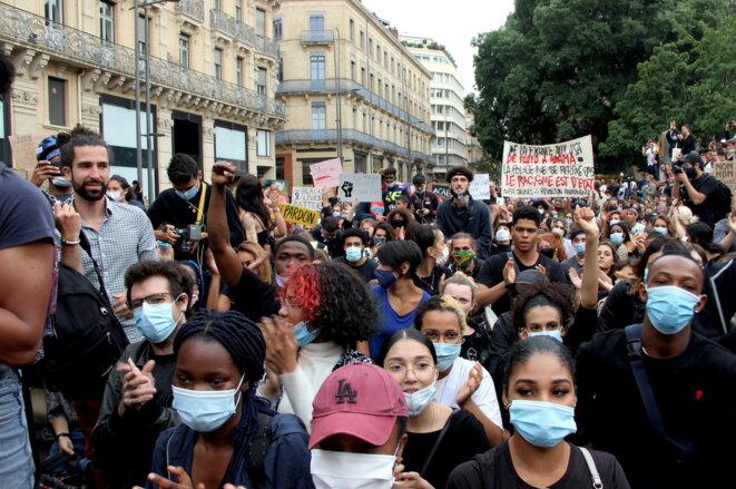 Manifestation contre les violences policières, à Toulouse, le 3 juin. © ER