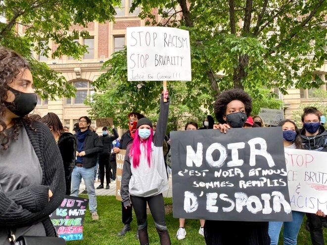 Black Lives Matter à Montréal © Hejer Charf