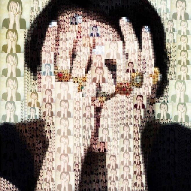 Image numérique illustrant la maladie du trouble de la personnalité avec un collage de plusieurs portraits de femmes © Ursula Ferrara/Shutterstock.com