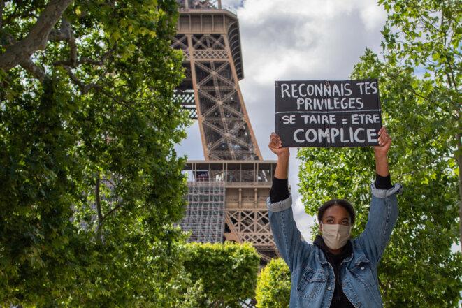 Rassemblement parisien du samedi 6 juin. © AFP