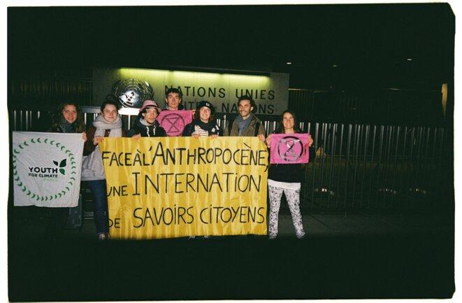 La génération Thunberg devant le siège des Nations Unies, à Genève, le 10/01/20
