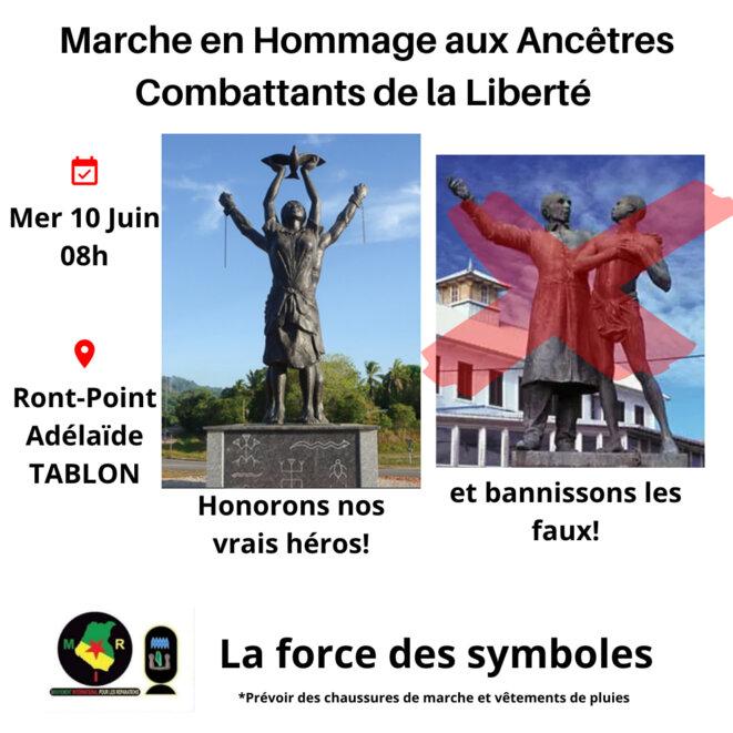10 juin. Les Marrons de la Liberté. Guyane. Mouvement International pour les Réparations MIR-Guyane. 1/3