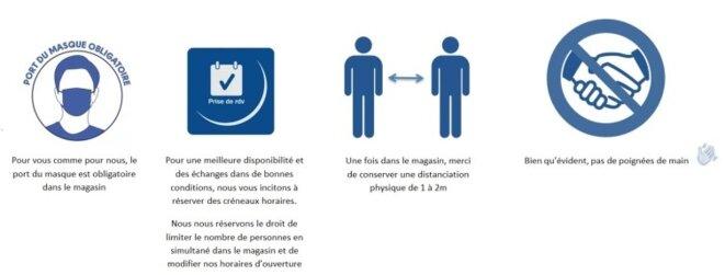Les consignes de sécurité pour la magasin Hifi vidéo Gambetta à Grenoble