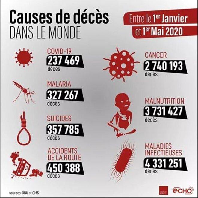Les principales causes de mortalité dans le monde en 2020 © ECHO