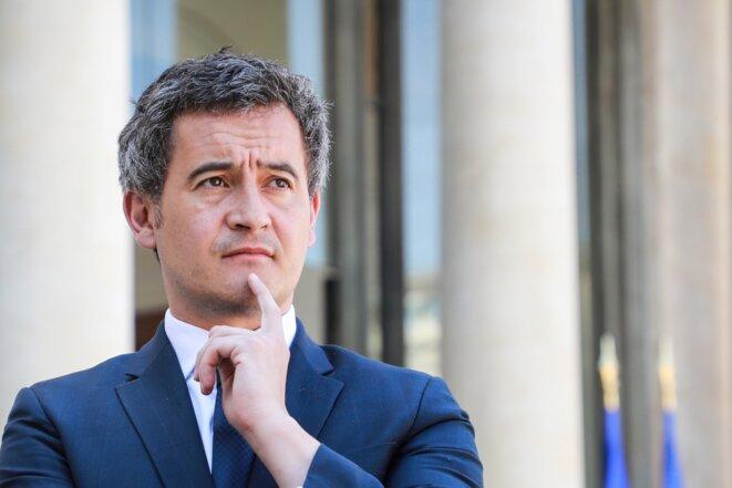 Gérald Darmanin, à l'Élysée, le 24 avril 2020. © LUDOVIC MARIN / AFP