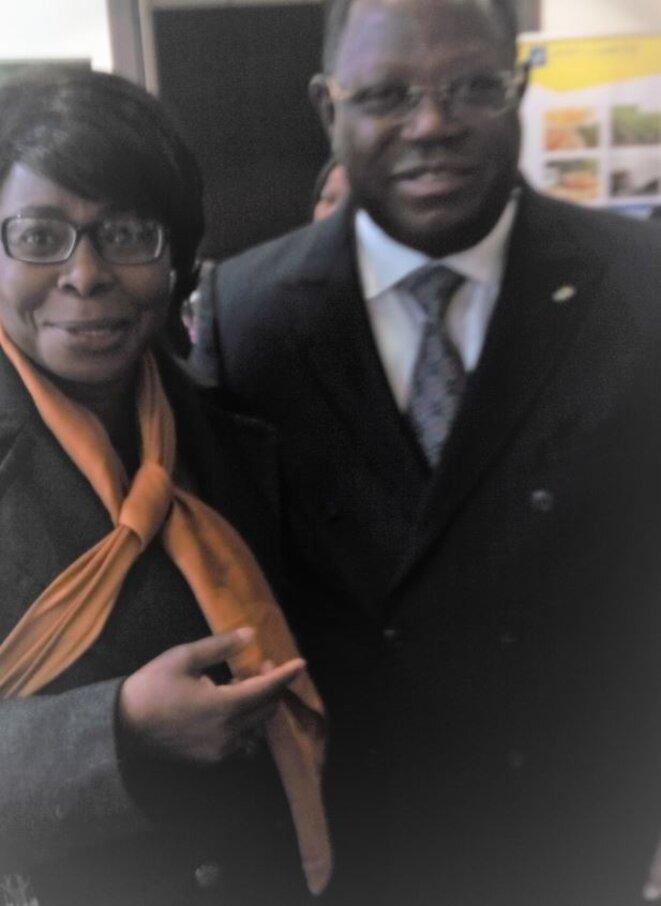 France, 2017, l'ancien 1er Ministre  Franck Emmanuel ISSOZE NGONDET et AM DWORACZEK-BENDOME