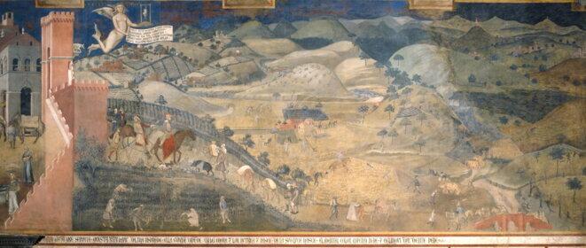 Effets du Bon Gouvernement sur la campagne © Ambrogio Lorenzetti
