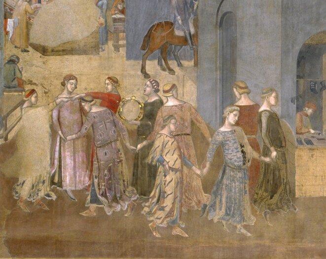 Effets du Bon Gouvernement sur la ville © Ambrogio Lorenzetti