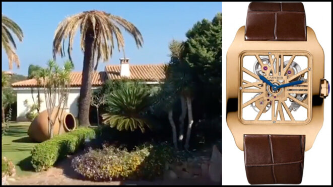FIFA number two was gifted with free use of a villa in Sardinia, and a gold Cartier watch.