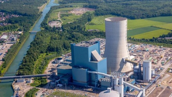 Centrale à charbon de Datteln 4, en Allemagne. © https://www.power-technology.com/