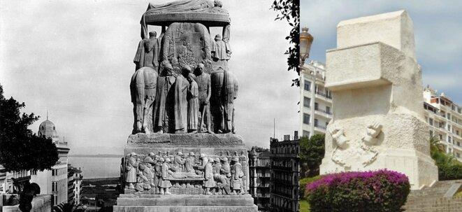 Photos du Pavois et de l'œuvre de M'hamed Issiakhem qui la recouvre © dia-algérie.com