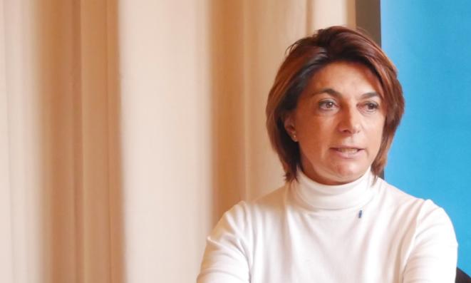 Martine Vassal, candidate LR à la mairie de Marseille. © Lisa Castelly