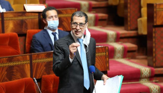 Saâdedine El Othmani, chef du gouvernement marocain, intervenant face aux parlementaires. © lesinfos.ma