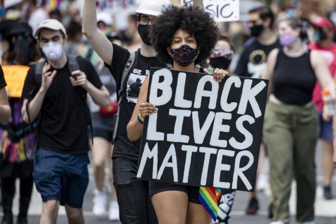 Une manifestation à Washington le 13 juin 2020. © Samuel Corum /Getty Images/AFP