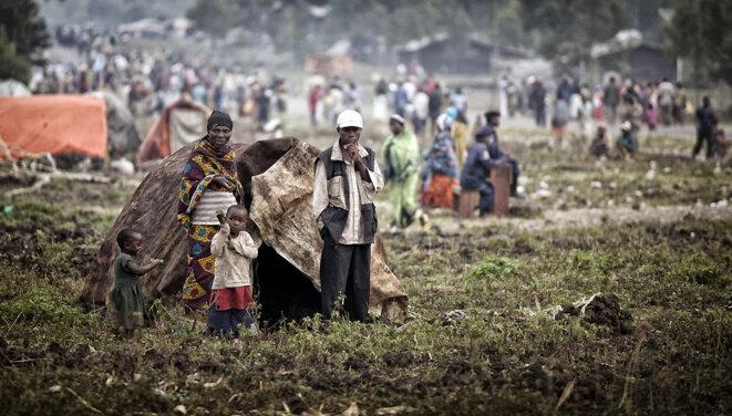 Des réfugiés congolais à Kibumba à l'Est de la RDC en 2012 © Monusco