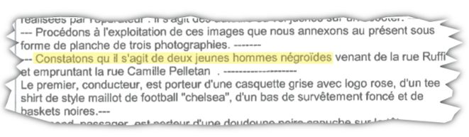 Procès-verbal du 26 mai 2020, Division de la sécurité de proximité, Marseille.