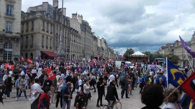 Manifestation Hôpital mardi 16 juin 2020.