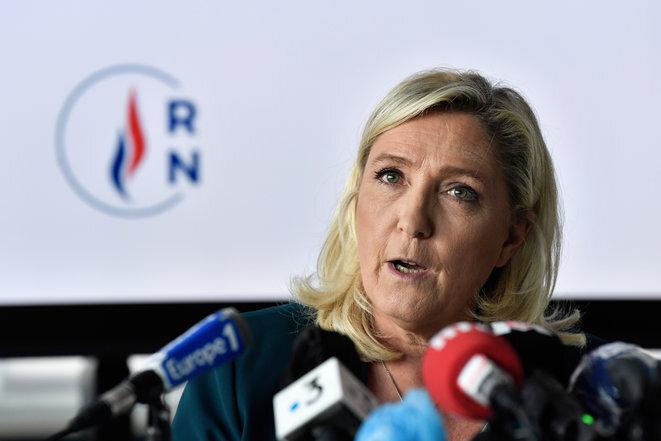 Marine Le Pen, el martes 16 de junio de 2020, en Dijon. © PHILIPPE DESMAZES/AFP