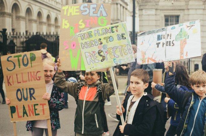 Grève de la jeunesse pour le Climat organisée par Youth Stricke For Climate UK, le 15/03/2019 à Londres – ©Victor Chaix