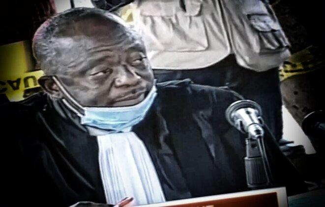 Le juge Raphaël Yanyi lors de la première audience du procès Kamerhe