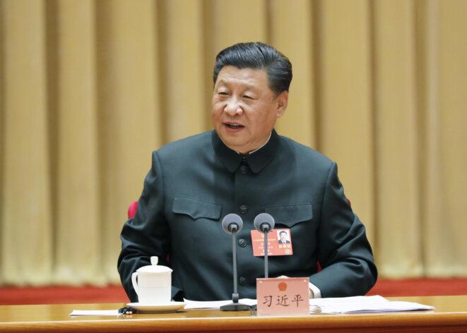 le-president-chinois-xi-jinping-appelle-a-la-preparation-au-combat-militaire