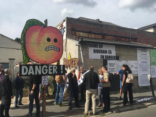 Des habitants réunis contre le projet de réaménagement de l'usine EIF