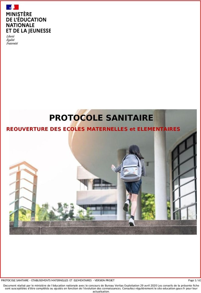 Le protocole sanitaire
