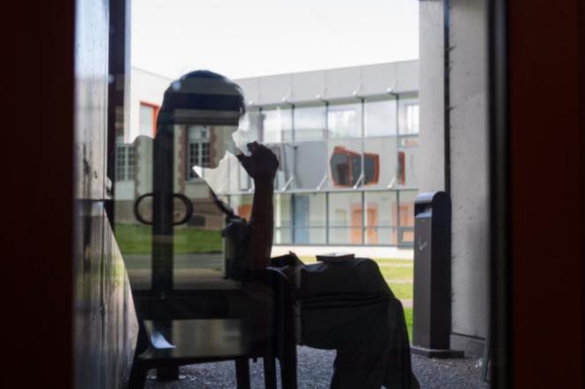 Dans l'hôpital psychiatrique d'Évreux, le 19 juin 2019. © Pierre Michel Jean