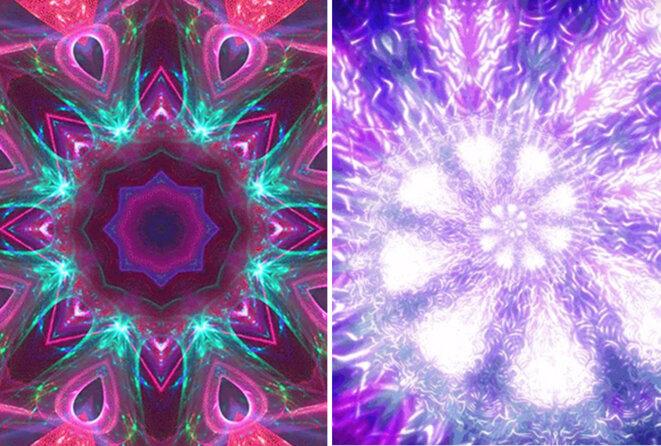 Deux images fractales côte à côte : Les enfants autistes excellent dans l'absorption d'informations provenant d'objets, tels que les fractales. © Avec l'aimable autorisation de Quan Wang