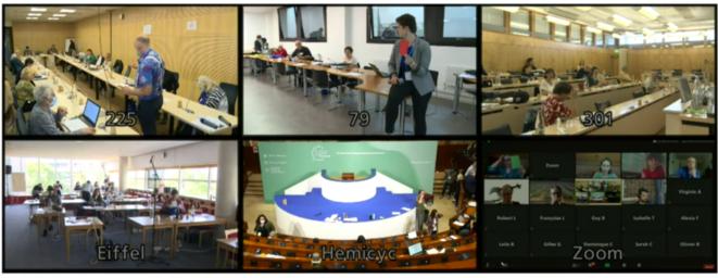 La Convention citoyenne pour le climat, samedi 20 juin, éclatée en plusieurs salles, à l'heure du Covid (capture d'écran).