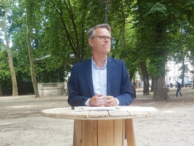 Le député Éric Alauzet, tête de liste LREM à Besançon. © Guillaume Clerc