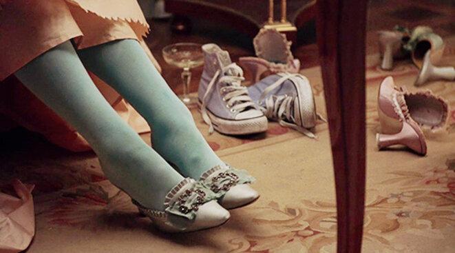 Les converses de Marie-Antoinette, film de Sofia Coppola © Sofia Coppola, Marie-Antoinette, 2006,  Columbia Pictures, American Zoetrope, Tohokushinsha Film Corporation