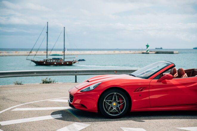 red-luxury-vehicle