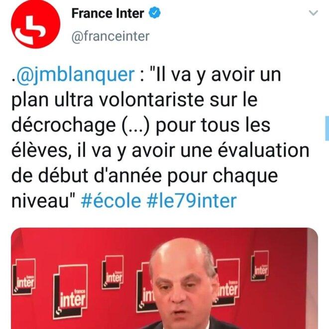 Interview de M. Blanquer